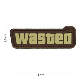 PATCH PVC WASTED BROWN