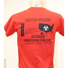 T-SHIRT ZOMBIE HUNTING PERMIT