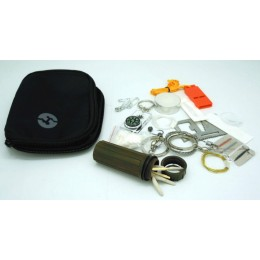 KIT SURVIVAL CIN TASCA MOLLE BK