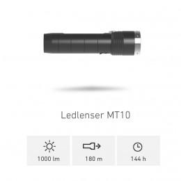 TORCIA LED LENSER MT10 1000 LUMENS